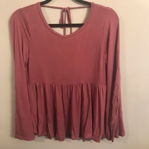 American eagle soft and sexy pink long sleeve top